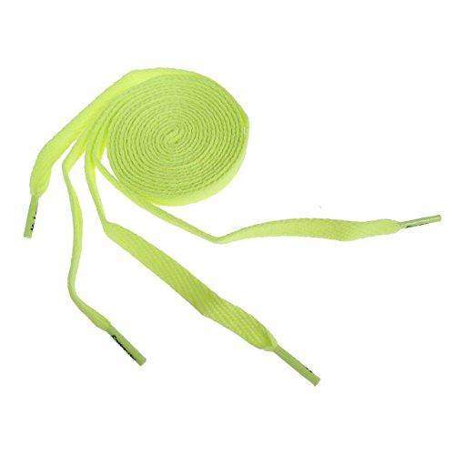 Mr lacy - Flaties neon 130cm x 10mm - Lacets - Jaune - Taille Unique