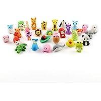 Cusfull 30pcs Mini Gomas de borrar, diseño de animales
