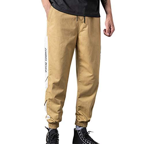 Herren Jogginghose Multi-Pocket Chino Hosen, Cargo Arbeitshose für Jugendliche und Jungen, Lässige Sportliche Hip Hop Kampfhose -