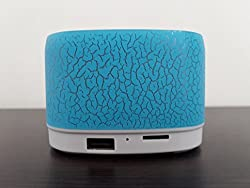 UBON VT-65 Portable Wireless Bluetooth Speaker with USB and TF card support Plus Kunhar OTG connector Color - Blue