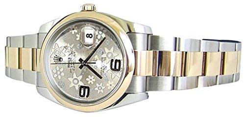 Rolex Datejust Uhr Oysterband SS & Goldblume Wahl -