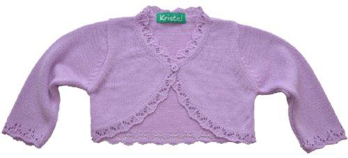 Kristel Mädchen Baby Strickjacke Bolero 902 9023 Lila Gr. 134