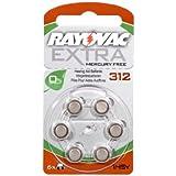 -- Rayovac Extra 312 60 piles pour appareils auditifs sans mercure Marron