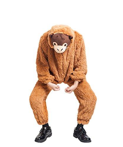 Orang Utan Affen-Kostüm, F129 Gr. 92-98, für Klein-Kinder, Babies, Affen-Kostüme Affe Orang Utans Kinder-Kostüme Fasching Karneval, Klein-Kind Karnevalskostüme, Kinder-Faschingskostüme