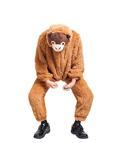 Ikumaal Orang Utan Affen-Kostüm, F129 Gr. 104-110, für Kinder, Affen-Kostüme AFFE Orang Utans für Fasching Karneval, Klein-Kinder Karnevalskostüme, Kinder-Faschingskostüme, Geburtstags-Geschenk