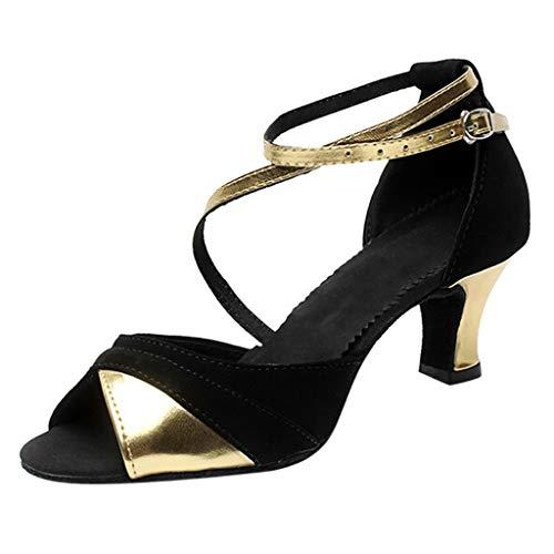 VECDY Zapatos De Baile De Salsa Latina Mujer Boca