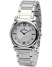 Kronos - Ladies White 937.8.22 - Reloj de señora de cuarzo, brazalete de