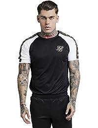 Sik Silk Hombre Camiseta de Rendimiento, Negro