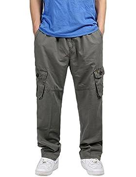 Insun - Pantalón - para hombre Verde Ejército XXXL
