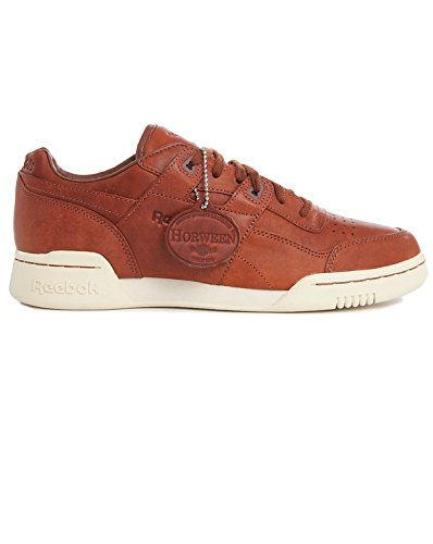 2570394e61bc2 REEBOK Classic Leather Lux Horween. Reebok Cognacfarbig-weiße Sneakers  Workout Horween