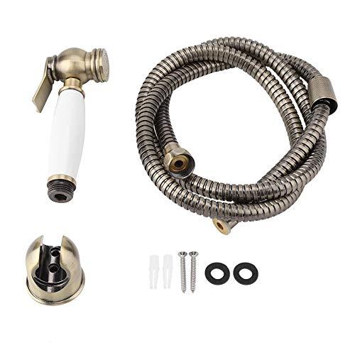 FTVOGUE Massivem Messing Hochdruck Vintage Wandhalterung Dusche WC Badezimmer Hand Bidet Windel Spray Sprayer Shattaf Kit -