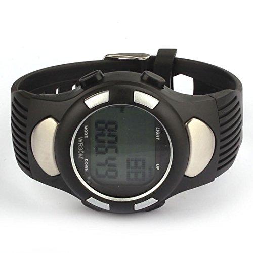 FEITONG nuovo fitness 3d pedometro calorie counter Guarda impulsi cardiofrequenzimetro (argento)