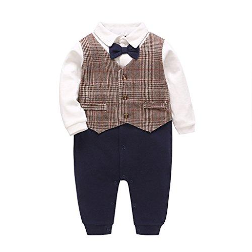 Strampler Baby Onesie Spielanzug Baumwolle Langarm Outfits Taufbekleidung Jungen