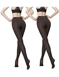 460635a471183 Women's 200 Denier Tights 2pack Stockings Opaque Control Top Pantyhose