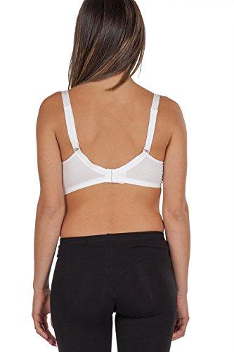 Premamy - Damen Still Büstenhalter Schwangerschafts - Farbe: Weiß Weiß