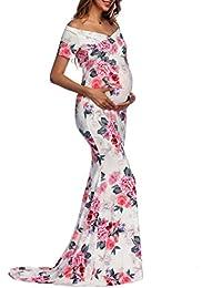 K-youth Vestidos Largos Embarazada Fiesta Vestido de Maternidad Mujer Fiesta Largos Boda Mujer Embarazada