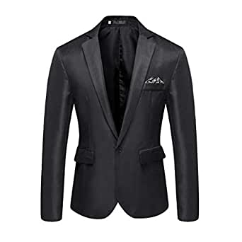 Sunward Coat for Men,Men's Casual Solid Blazer Business Party Outwear Coat Suit Tops Black