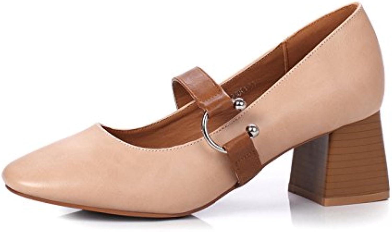 La luz de la sola zapato_campo nuevo para el alto-Heel Shoes otoño luz de retro-pesado, con el Pink 36