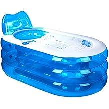 Bathtub Gruesa Bañera Inflable, Bañera de PVC para Adultos, Bañera de plástico Plegable,