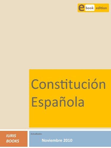 Constitución Española por Iuris Books