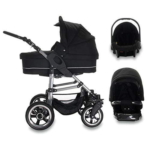 Bebebi London | 3 in 1 Kinderwagen Set | Hartgummireifen | Farbe: Tower Bridge