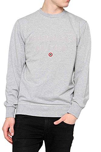 Aeronautica militare felpa sweatshirt round neck linea fashion underwear melange grey l