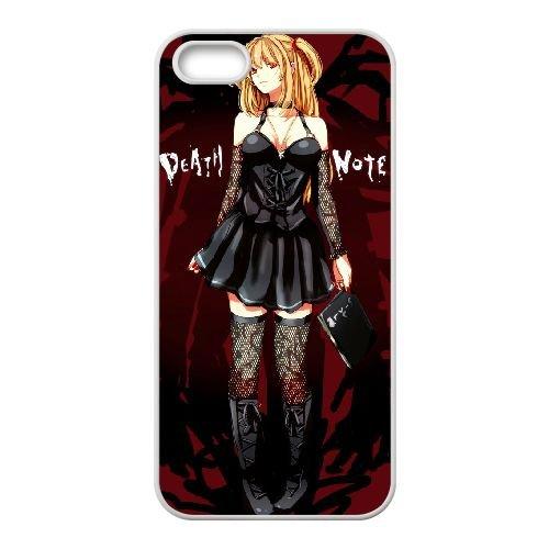 Death Note coque iPhone 5 5S Housse Blanc téléphone portable couverture de cas coque EBDXJKNBO11829