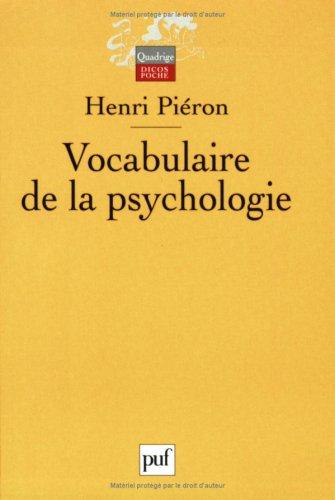 Vocabulaire de la psychologie