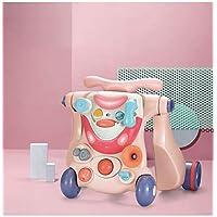 HEcSHENG 3 en 1 Andador de bebé Antideslizante Seguridad Desmontable Cochecito de bebé deformable Sonido y luz Cochecito