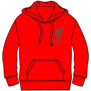 Mens Official Liverpool Football Club LFC Hoodie Jumper Hoody Sweatshirt Hooded Sweat Top Large and Extra Large (Large ) by Love My