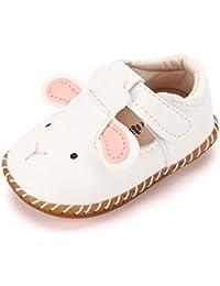 b343e13844bd LACOFIA Infant Baby Girls T-Strap Princess First Walking Shoes