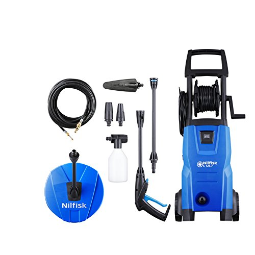 Nilfisk C120 7-6 Patio, Brush and Drain Cleaner Pressure Washer - Blue
