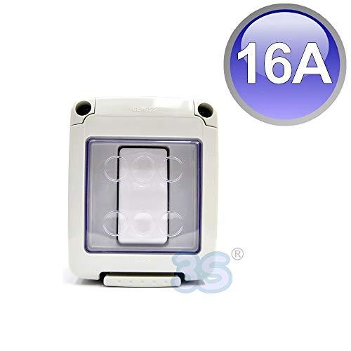 Scatola elettrica stagna per interno- esterno con interruttore unipolare da 16 A