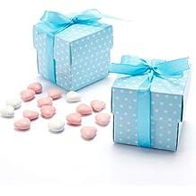 50 cajas de regalo para invitados, para bodas, baby shower, bautizo, nacimiento