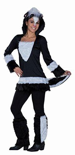 Damen Kostüm Stinktier Skunk Stinktierkostüm Karneval (Kostüm Skunk)