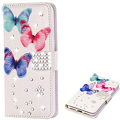 Slim Flip Sparkle Bling Glitter Diamant Standfunktion für iPhone XR
