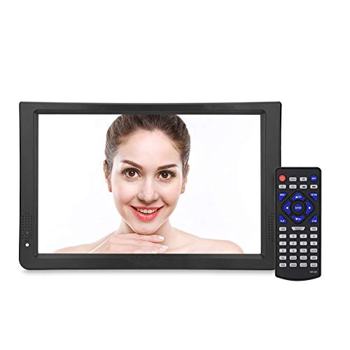 Tragbarer DVB-T/T2 Fernseher,Richer-R 11.6 Zoll HD TV DVB-T2 LCD Fernseher,Portable 1080P Video Digital Analog TV Fernseher,Unterstützt USB/SD-Karte,RMVB/AVI/MKV/MOV, für Flug Urlaub Camping Zuhause(EU-plug)