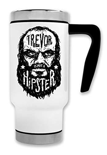 ShutUp Trevor Hipster Thermische Reise-Kaffee-Tee-Tasse