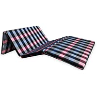 """Sleepinns Four Fold Single Bed Size Premium 2 inches epe Foam Foldable Mattresses 72"""" X 35"""" X 2"""", (Checkered)"""