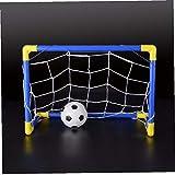Angoter Folding Mini Calcio Calcio Palo della Porta Rete Set con Pompa Bambini Indoor Sport Giochi Giocattoli Outdoor Compleanno Bambini di plastica del Regalo