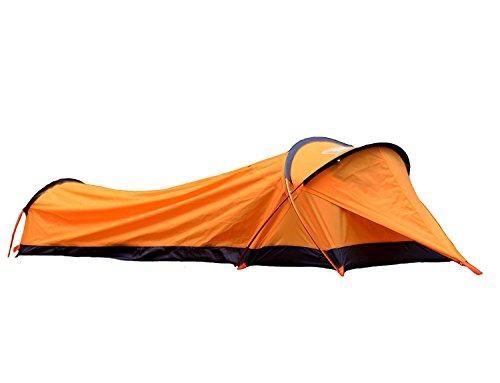Bivvy Biwaksäcke Trekkingzelt Campingzelt Zelt Minipack Ultraleichtes Wasserdichtes - 230 x 75 x 60 H cm (1.25 kg) - Eine Personen Zelt für Outdoor-Camping Wandern - Schneller einfacher Aufbau (Gelb)