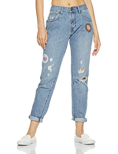 Pepe Jeans Women s Relaxed Fit Jeans (LYLA Stone Wash 26) ... 7663be1f29