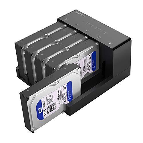 """ORICO 5 Bay 2,5\"""" 3,5\"""" Festplatten Dockingstation Gehäuse,Hard Drive Festplattengehäuse HDD Docking Station USB 3.0, Hochgeschwindigkeit, bis zu 50 TB"""