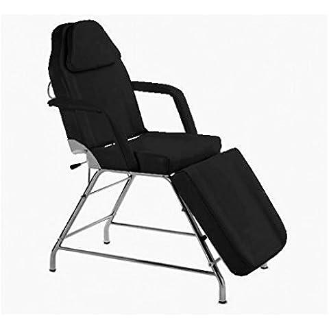 Camilla de masaje / Camilla de estética 3 cuerpos / Camilla sillón de masaje / Camilla negra con brazos y ajustable