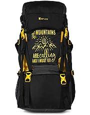 Impulse Waterproof Travelling Trekking Hiking Camping Bag Backpack Series 55 litres Yellow Mt Calling Rucksack