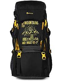 Impulse Waterproof Travelling Trekking Hiking Camping Bag Backpack Series Mt. Calling 55 litres Yellow Rucksack