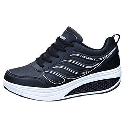 Frenchenal Baskets à Semelle Épaisse Chaussures Compensées à Lacets en Cuir Overdose Femme Automne Hiver Sportwear Casual Sneakers Plates