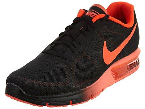 Nike Herren Air Max Sequent Laufschuhe, Black (Schwarz/Total Hochrot), 45.5 EU