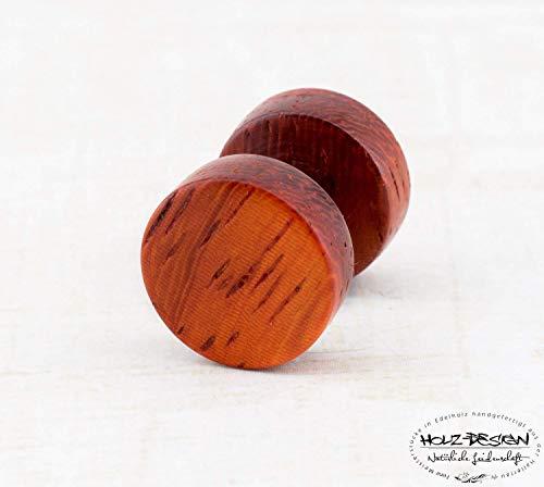 Fake Plug aus Holz | Holz Fake Plug - schraubbar | Illusion Holz Fake Plugs 6, 8, 10, 12, 14mm | Männer Ohrstecker Ohrringe aus Holz