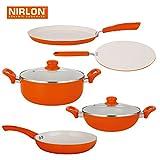 NIRLON Ceramic Induction Cookware Set (D...